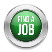 Big green find a job button — Stock Vector