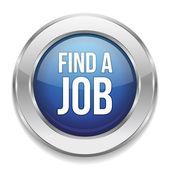 Big blue find a job button — Stock Vector