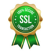 Secure transaction button green — Stock Vector