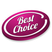 Oval best choice button — Stock Vector