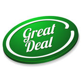 Great deal button — Stock Vector