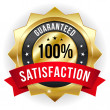 Hundred percent satisfaction badge — Stock Vector #32934343