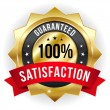 Hundred percent satisfaction badge — Imagens vectoriais em stock