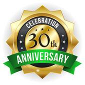 30 year anniversary button — Stock Vector