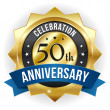 Stock Vector: 50 year anniversary button