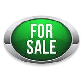Green silver for sale button — Stock Vector