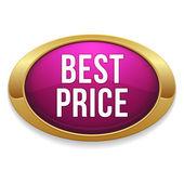 Bouton rose de l'argent meilleur prix — Vecteur