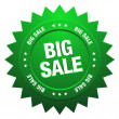 Green  big sale sign — Stock Vector