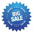 Blue big sale sign — Stock Vector