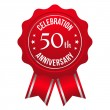 Fifty year anniversary badge — Stock Vector