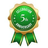 Five year anniversary badge — Vettoriale Stock
