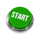 Green round play button — Stock Photo