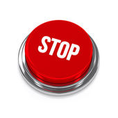 Big red stop button — Stock Photo