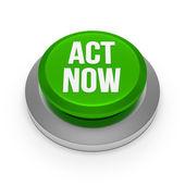 Green act now button — Stock Photo