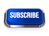 Blue silver subscribe button — Stock Photo