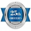 Stock Vector: Twenty-five year anniversary badge