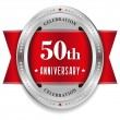 Stock Vector: Fifty year anniversary badge