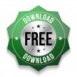 Free download button — Stock Vector
