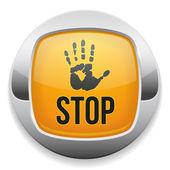 Przycisk stop — Wektor stockowy