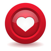 Love button — Stock Vector
