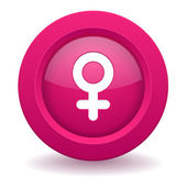 Female button — Vector de stock
