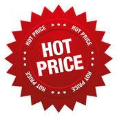 Hot price button — Stock Vector