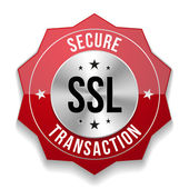 Secure transaction button — Stock Vector