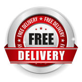 Free delivery badge — Stock Vector