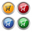 Stock Vector: Shop button