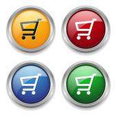 Shop button — Stock Vector
