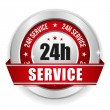 Twenty-four hour service badge — Stock Vector