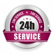 Stock Vector: Twenty-four hour service badge