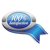 Hundred percent satisfaction button — Stock Vector