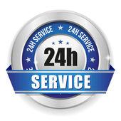 Twenty-four hour service badge — Stock Vector