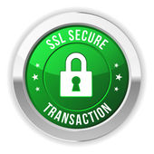 Secure transaction button — Stock Vector