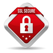 Secure button — Stock Vector