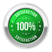 Hundred percent satisfaction badge — Stock Vector