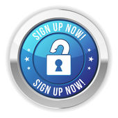 Sign up now button — Stock Vector