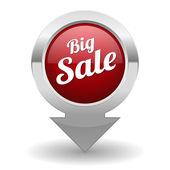 Big sale button — Stock Vector