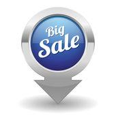 大きな販売ボタン — ストックベクタ