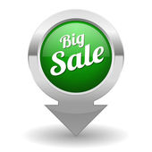 Big sale button — Vector de stock
