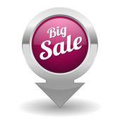 Velký výprodej tlačítko — Stock vektor