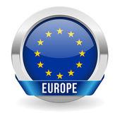 Botão de bandeira da europa — Vetorial Stock