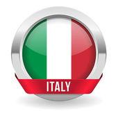 Botão redondo de Itália — Vetor de Stock