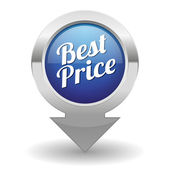 Best price button — Stock Vector