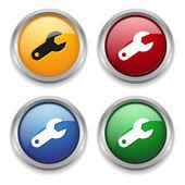 Botón configuración — Vector de stock