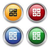 Colorful calculator button — Stock Vector