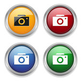 Camera button — Stock Vector