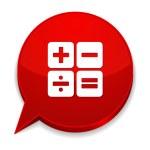 Red calculator button — Stock Vector