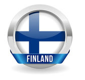 Finland button — Stock Vector